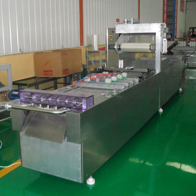 Automatic continuous stretch film vacuum packaging machine/vacuum sealer