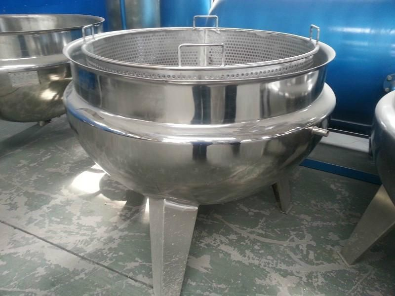 Factory price high quality vertical tilting type steam jacketed kettle sandwich pot Cooking Pot for Jam