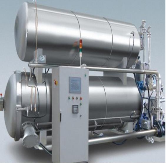 Double-layer water bath type autoclave machine sterilizer machine retort