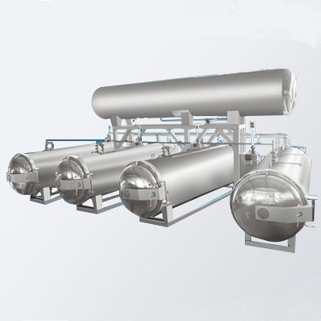 Double-pot three-pot multi-pot parallel type sterilization pot retort autoclave